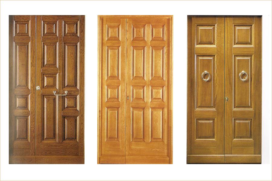 Porte In Legno Massello : Porte in legno naturale massiccio in noce ciliegio rovere di